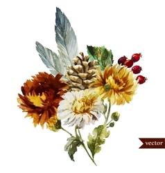 Boho flowers vector