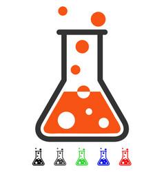 boiling liquid flat icon vector image