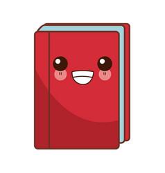 Book closed isolated cute kawaii cartoon vector