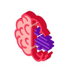 Brain mental health isometric icon vector
