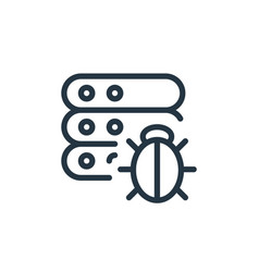 Bug icon isolated on white background outline vector