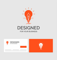 business logo template for bulb idea electricity vector image
