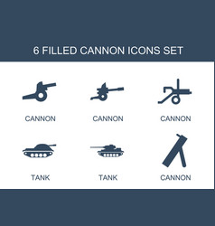 Cannon icons vector