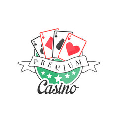 casino premium logo colorful vintage gambling vector image