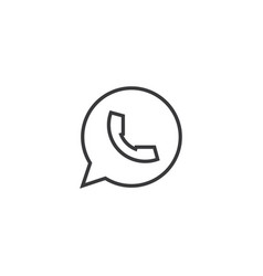chat message icon line style vector image