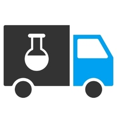 Chemical Delivery Truck Flat Icon vector