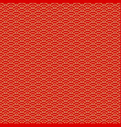 chinese seamless pattern red and golden vector image