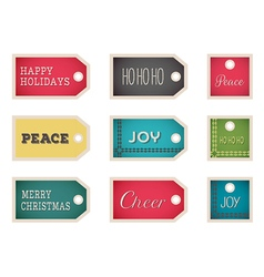 Christmas holiday tags on a white background vector