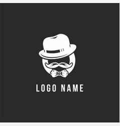 classic man logo vector image