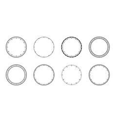 Clock face dial watch circles faces vector