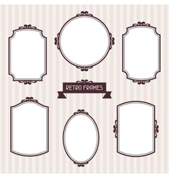 Collection of frames in retro style vector