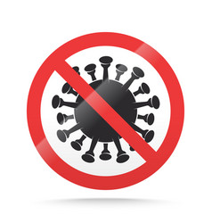 covid19-19 ban sign stop novel coronavirus vector image
