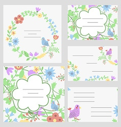 Cute invitation or wedding card vector