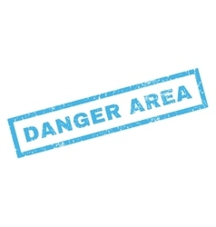 Danger Area Rubber Stamp vector