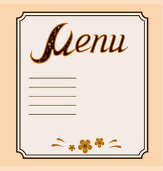 decorative menu in khokhloma style vector image