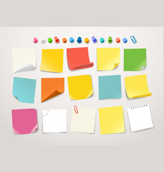 Different color paper stickers collection vector