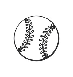 doodle baseball ball vector image