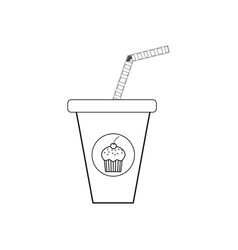 drink cocktail coloring page vector image