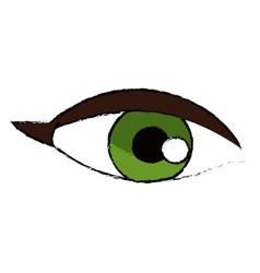 female eye vision optic cartoon vector image