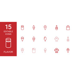 flavor icons vector image