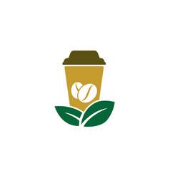 Green coffee logo icon design vector