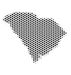 Hexagon south carolina state map vector