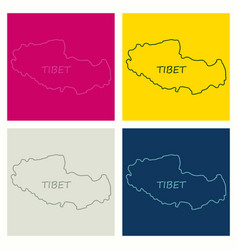 highly detailed country map tibet vector image
