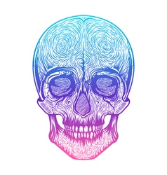 Human skull tribal styleTattoo blackwork hand vector
