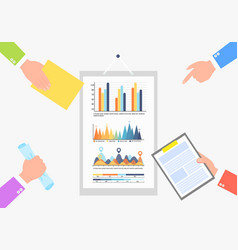 Infochart business statistics information data vector