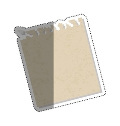 Isolated paper sheet vector image