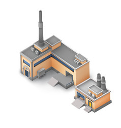 Isometric industrial area concept vector