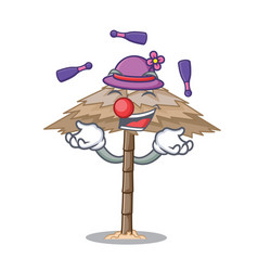Juggling beautiful beach shelter sand isolated vector