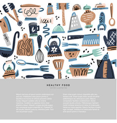 kitchen utensil hand drawn vector image