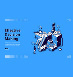 Landing page effective decision making vector