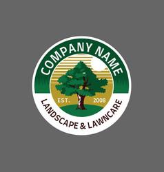 lawncare logo badge vector image