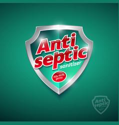 Logo antiseptic sanitizer gel antiseptic antivirus vector