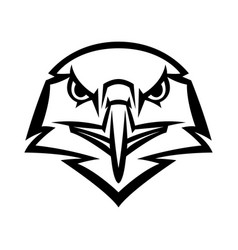 mascot stylized eagle head vector image