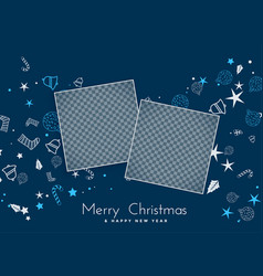 Merry christmas background with image space vector