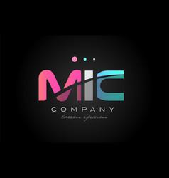 Mic m i c three letter logo icon design vector