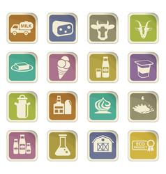 Milk icon set vector