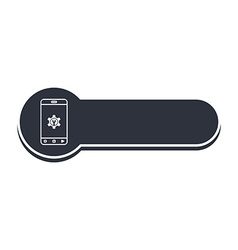 mobile phone banner template vector image