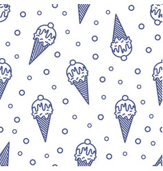 modern seamless pattern with ice cream in wafer vector image