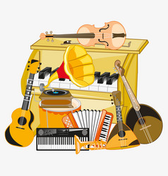 much music instruments vector image
