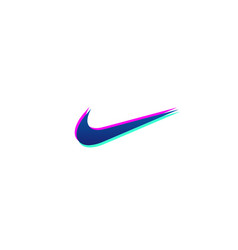 nike logo icon or symbol element isolated vector image