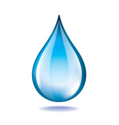 object water drop vector image
