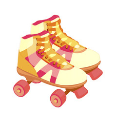 pair of vintage retro quad roller skates vector image