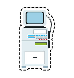 Patient monitor icon image vector