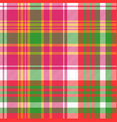 pink color check plaid seamless pattern vector image