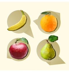 Polygonal fruit vector