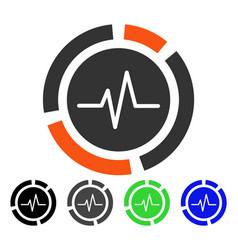 Pulse diagram flat icon vector